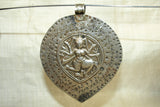 Large Silver Shiva Pendant from India