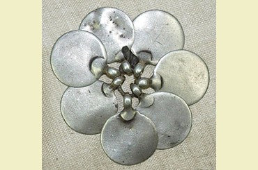 Set of Old Silver Flat Pendants from India