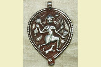 New Silver Dancing Shiva Pendant from India