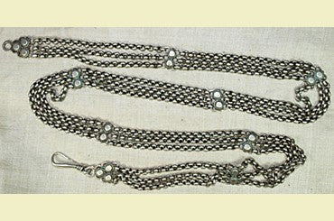 Old Silver Chain Belt from India
