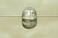 Old silver Fluted bead from India