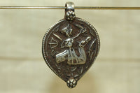 New Silver Rajasthani Hero Pendant from India
