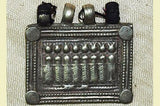 "Heavy Silver ""Seven Mothers/Sisters"" Amulet from India"