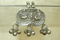 Krishna and Holy cows Antique Silver Pendant