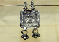 Antique Silver Prayer Box Pendant from India