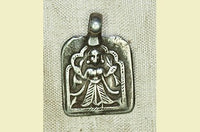 Antique Silver Hindu Goddess Amulet