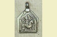 Antique Silver Rajasthani Hero Amulet