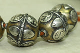 Large Silver and Brass Bead from India