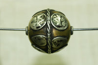 Large Silver and copper Bead from India