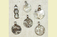 Set of Miscellaneous Silver Amulets from India
