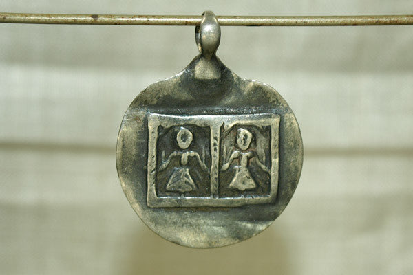 Silver Twin Goddeses Amulet
