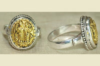 18kt Gold & Sterling Silver Hanuman Ring