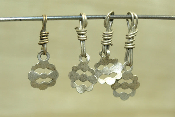 Four coin silver Dangles from India