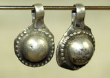 Pair of Antique India Coin Silver Pendant