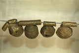 Set of four Antique Nigerian Brass bells