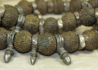 Strand of Cool Nigerian Brass Beads & Tuareg Daggers