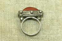 Small Tuareg Ring with Carnelian Idar-Oberstein Stone