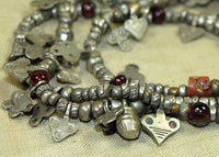 Traditional Mauritanian Metal & Glass Beads from Tuareg Tribe