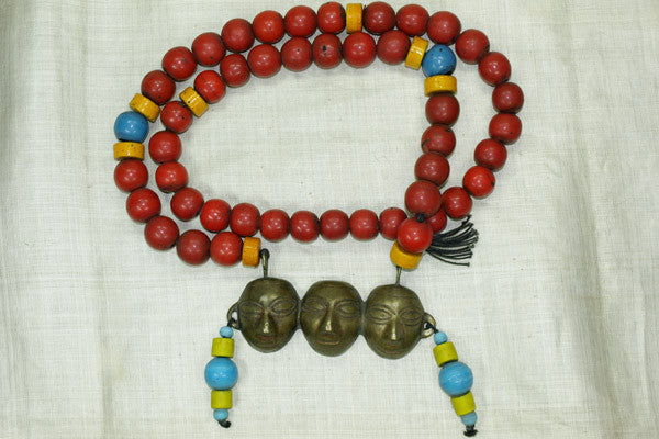 "Awesome Nagaland ""Three Heads"" Necklace"