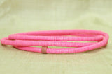 4mm Bright Pink New Plastic Disk Beads