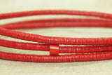 4mm Bright Red New Plastic Disk Beads
