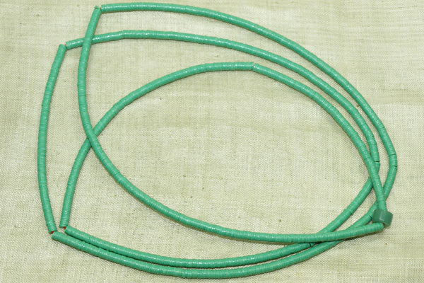 3mm Green New Plastic Disk Beads