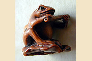 Frog with Flute