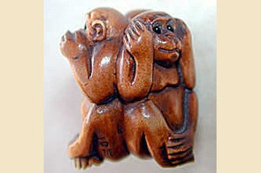 Three Monkeys Seated
