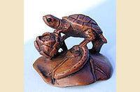 Turtle with Lotus Blossom