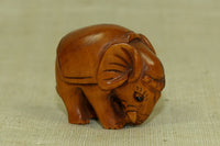 Carved Boxwood Elephant