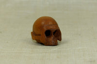 Carved Boxwood Skull