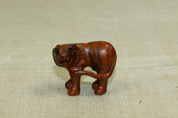Carved Boxwood Tiger