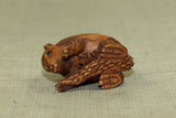 Carved Boxwood Armadillo