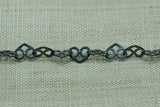 Filigree Heart-Shaped Link Chain