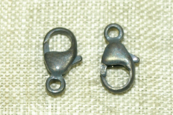 Oxidized Sterling Silver 9mm Lobster Clasp