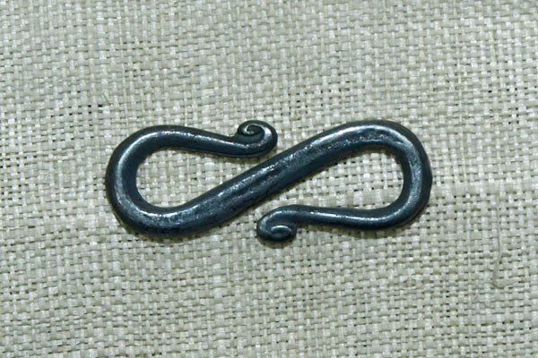 Oxidized Sterling S-Hook