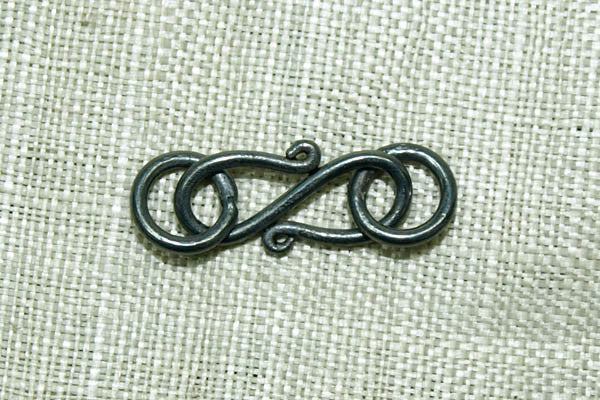 Oxidized Sterling Mini S-Hook with Soldered Rings