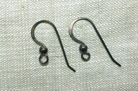 Hammered Ear Wire with 3mm Ball, pair