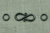 Oxidized Sterling S-hook Set