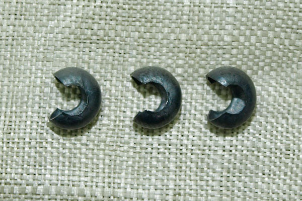 3 x 3.5 mm Oxidized Crimp Cover