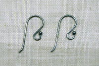 Oxidized Sterling Silver Earwires with Ball