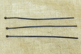 "Heavy Oxidized Sterling Silver 2.5"" Headpins"