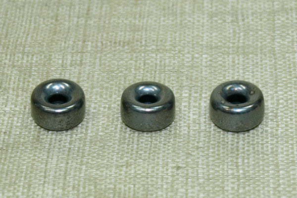 6mm Oxidized Sterling Silver Donut