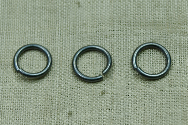 Heavy 9mm Open Oxidized Sterling Silver Jump Ring