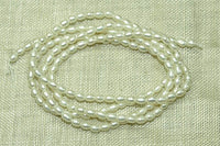Pearls, 2.5mm x 2mm beautiful tiny pearls!