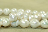 Strand of wonderfully ugly irregular Pearls, 9-12mm