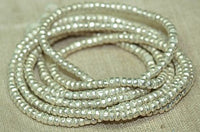3mm Silver Color Ethiopian Heishi, New
