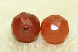 Faceted Carnelian Stone Bead, Antique