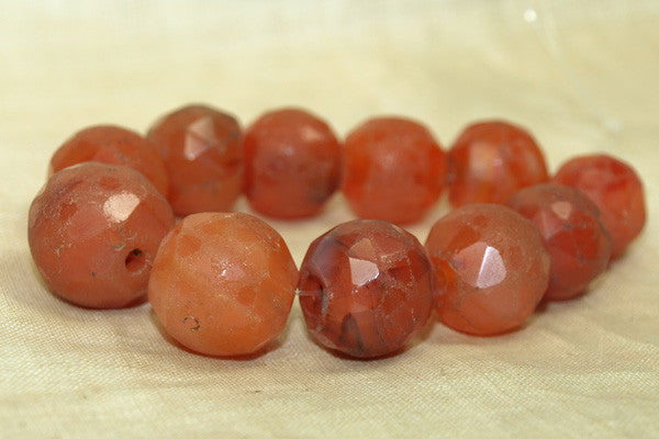 Carnelian Stone Bead strand, Antique