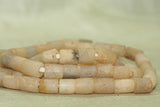 Ancient Quartz Strand; Tube Beads